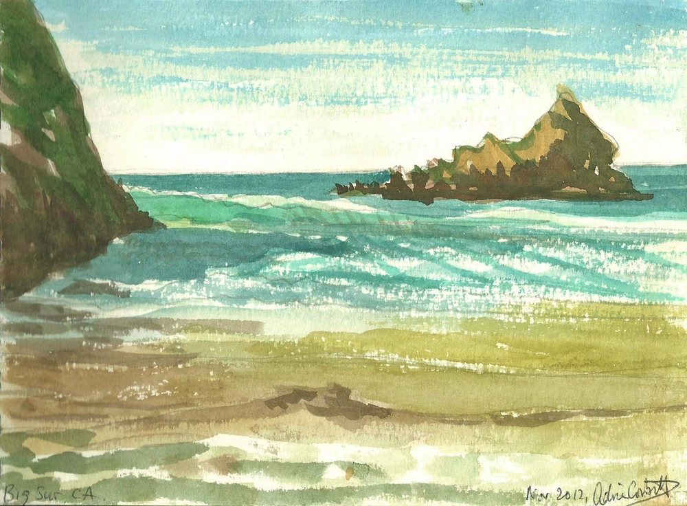 Poem Book Big Sur Beach Watercolor.jpg