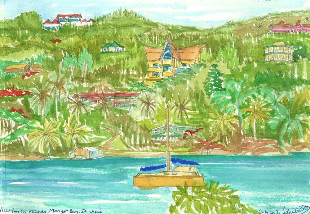 Poem book Marigot Bay St. Lucia watercolor.jpg