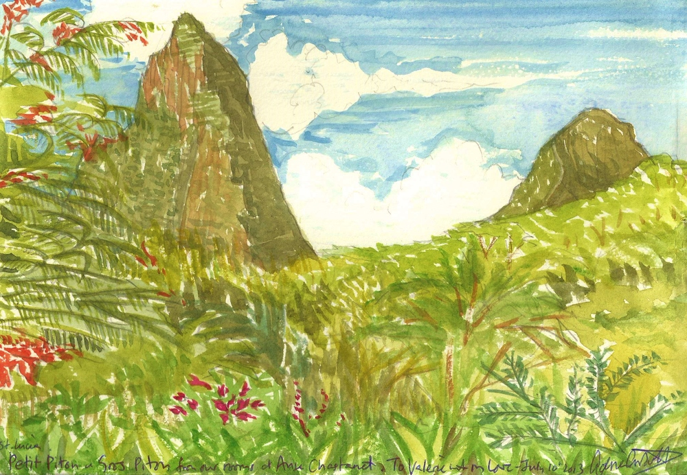 Poem book The Pitons St. Lucia watercolor.jpg