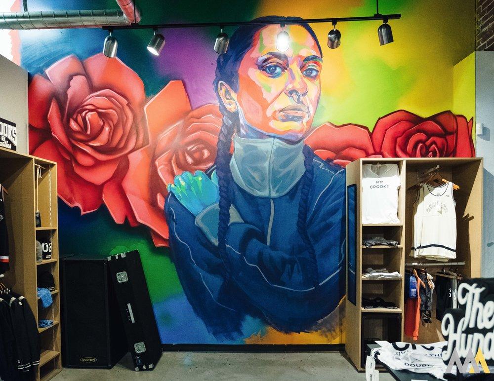 A mural by Thomas Evans a.k.a Detour 303
