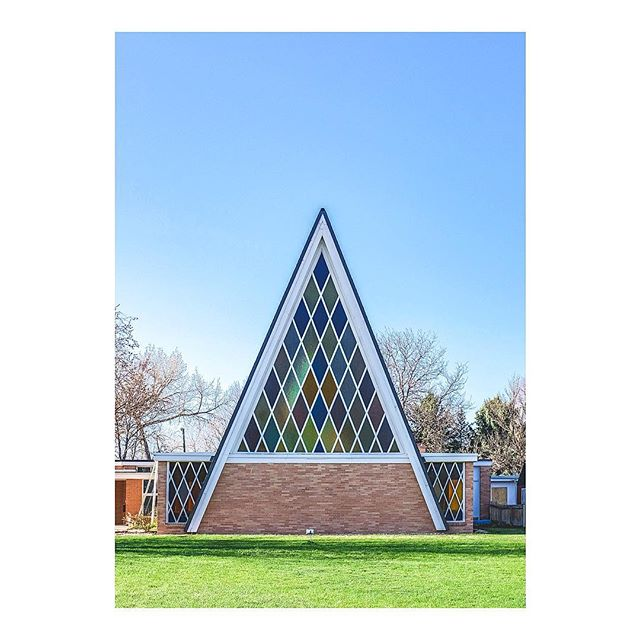 The Salem Church of Christ, an A frame building in Southeast Denver. . #WalkWithLocals #WWLxDenver #FujifilmX_US #VisitDenver