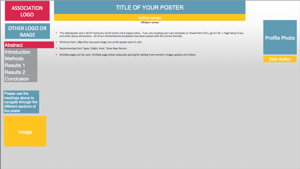 templates eposterboards