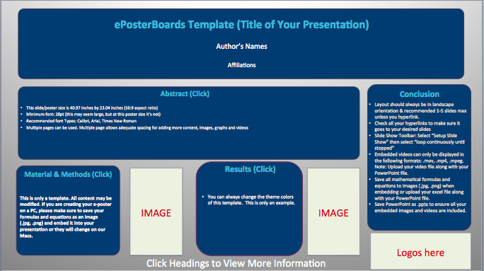 Hyperlinked Subjects - Click Image to Download Template