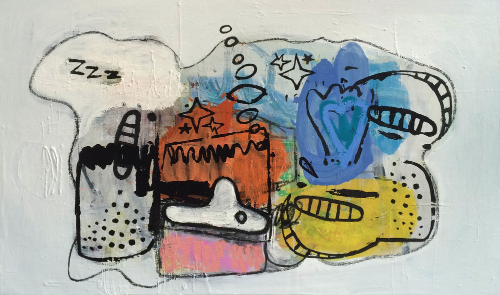 zzz,  2015  Oil on canvas  36H x 60W inches