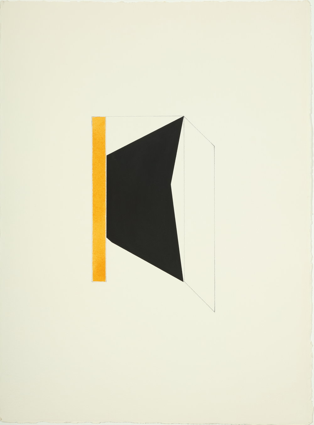 The Fox,  1977 - 1978         Acrylic and pencil on paper 30.5H x 22.875W inches unframed