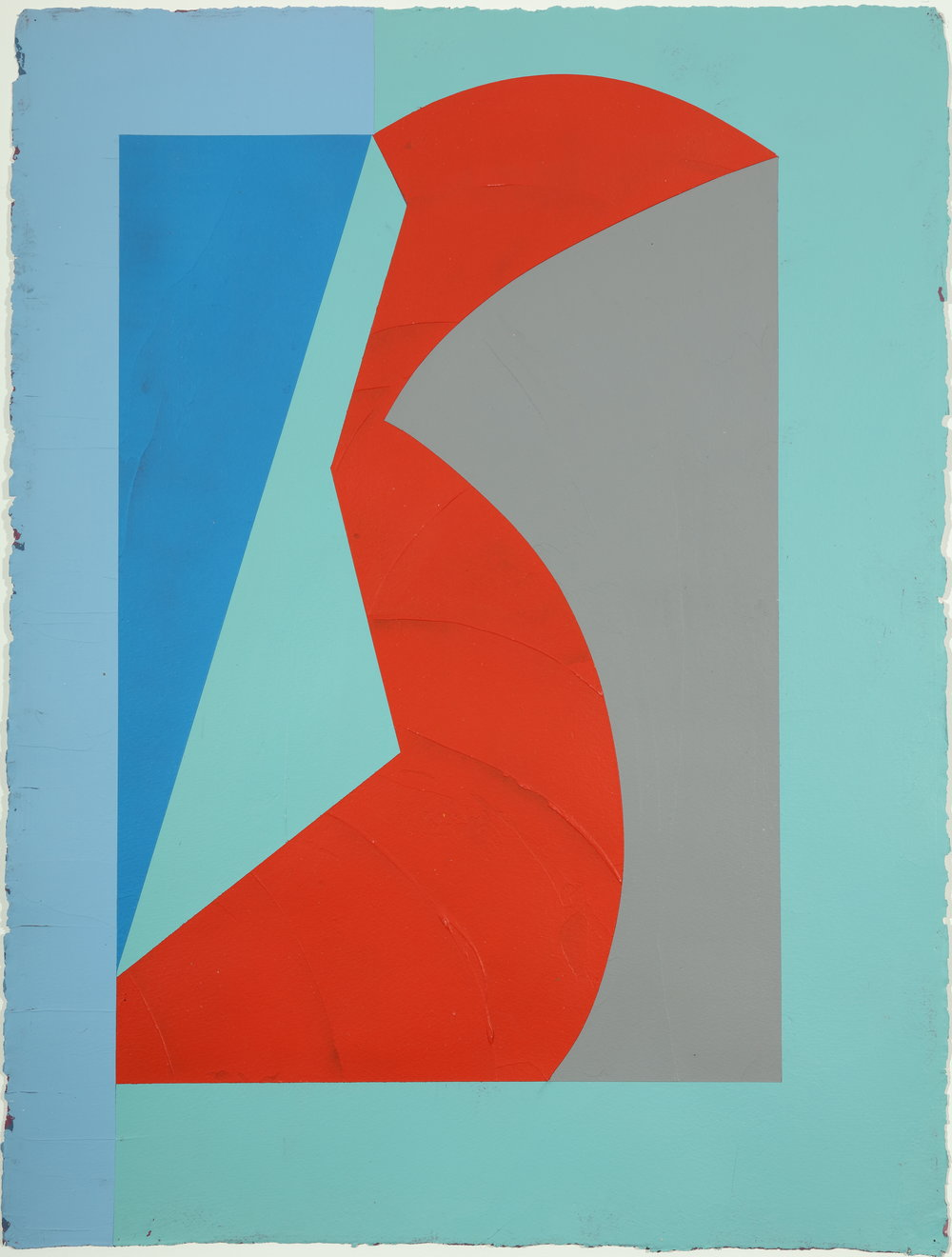 Untitled,   1983         Acrylic and modeling paste on paper 30.125H x 22.875W inches unframed