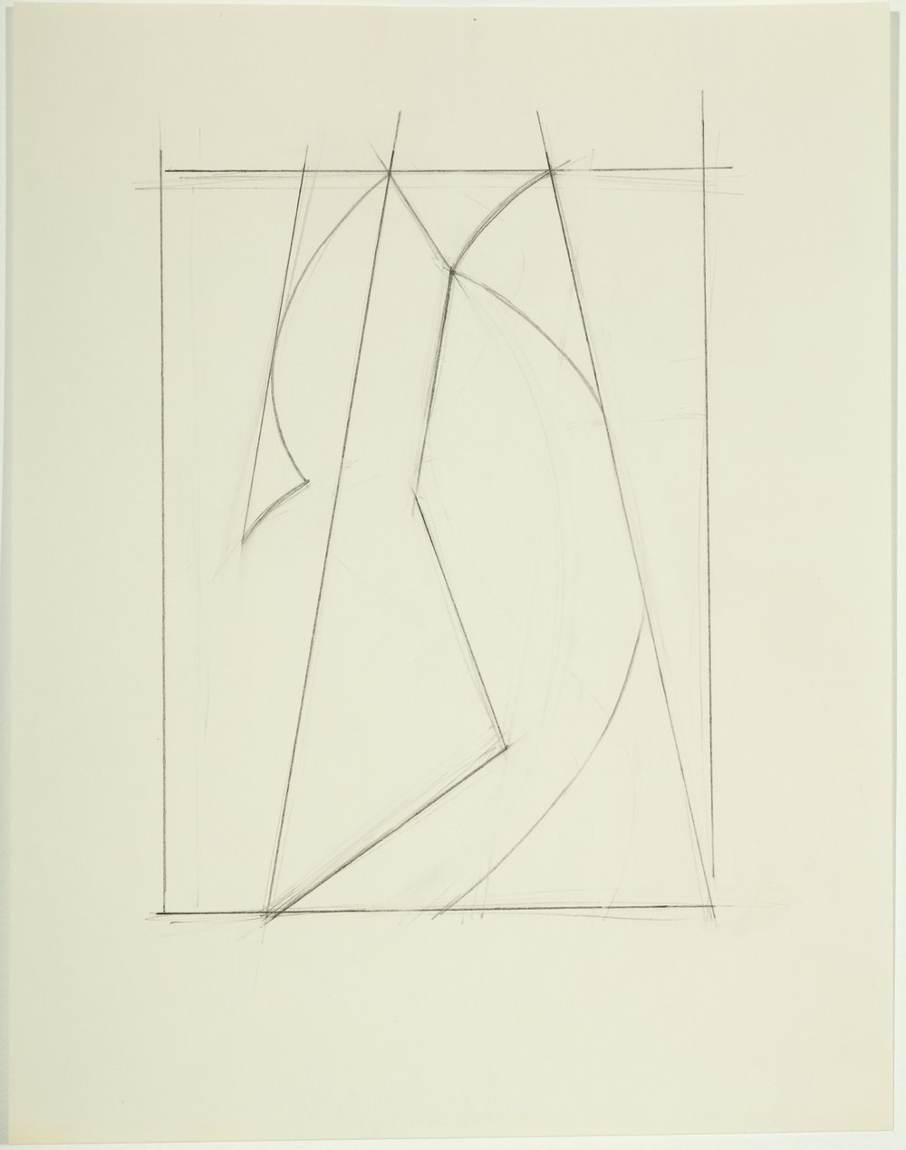 Untitled,  1983         Pencil on paper 11H x 8.5W inches unframed $2,500 unframed $2,2725 framed
