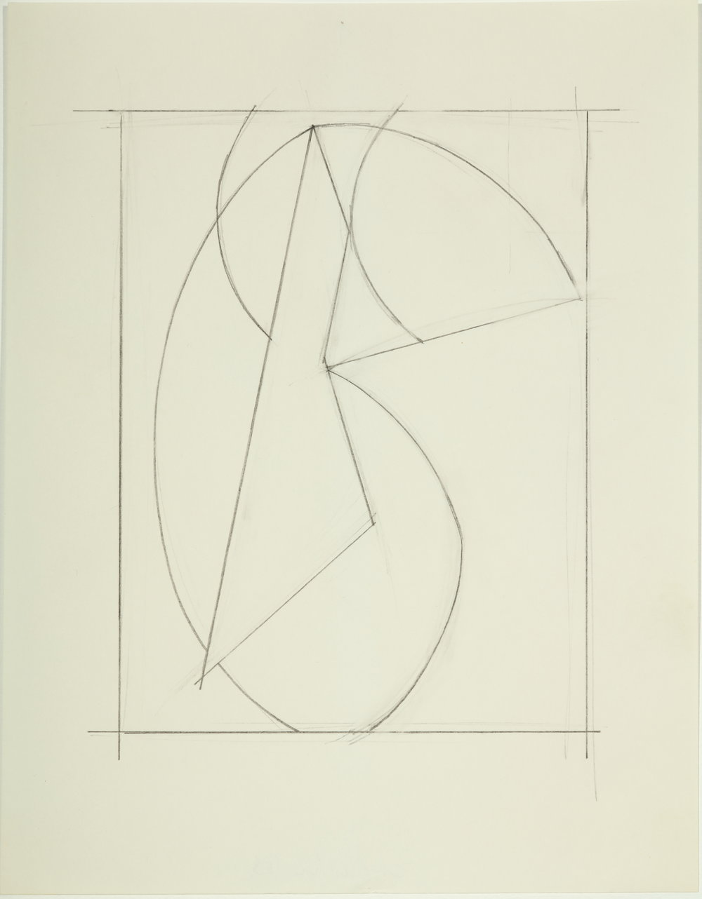 Untitled,  1983         Pencil on paper 11H x 8.5W inches unframed