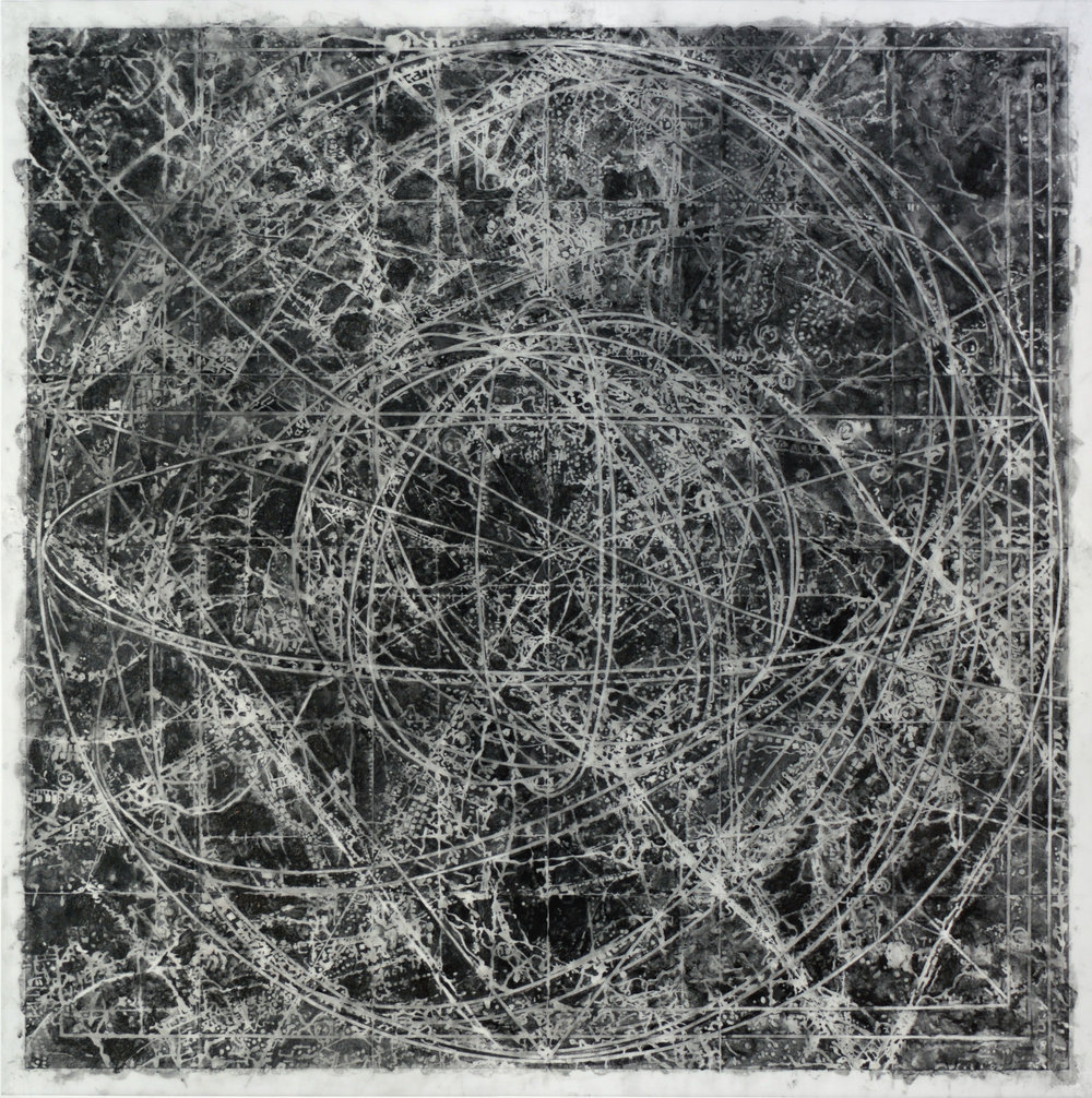 Association,  2015 Graphite, mixed media on Dura-lar 40H x 40W inches unframed 45.5H x 45.5W inches frame