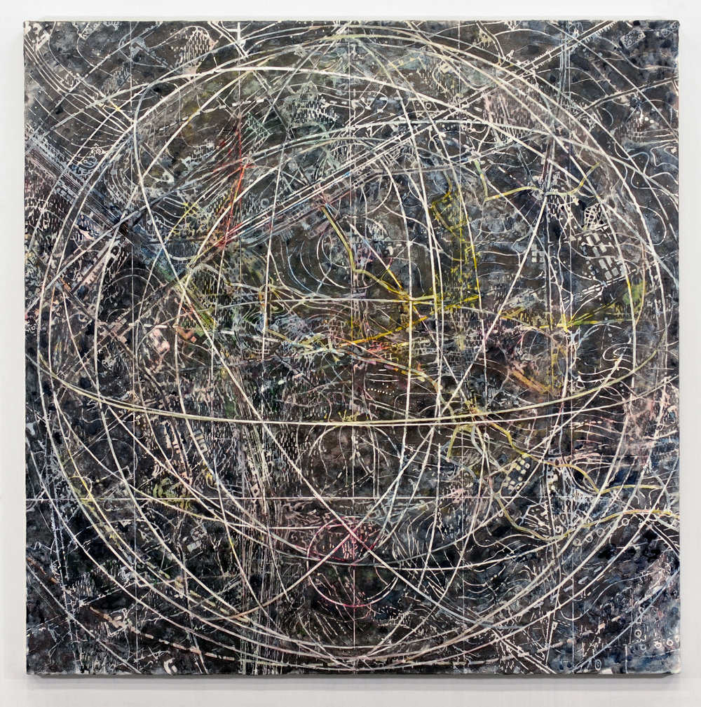 Indeterminate , 2016 Mixed media on linen 54H x 54W inches