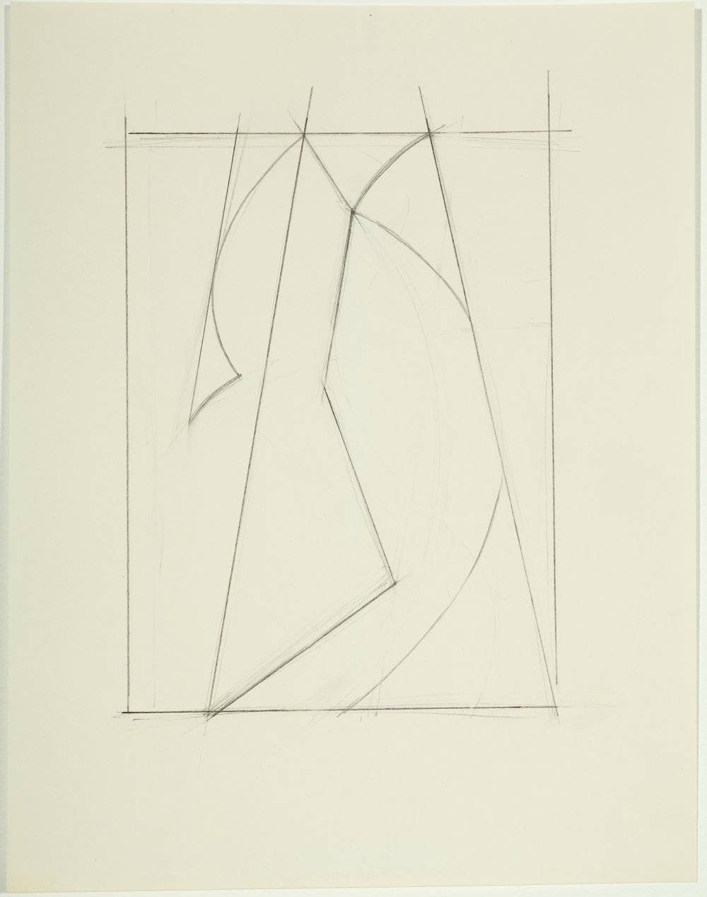 "Untitled   1983  Pencil on paper  11"" x 8.50"""