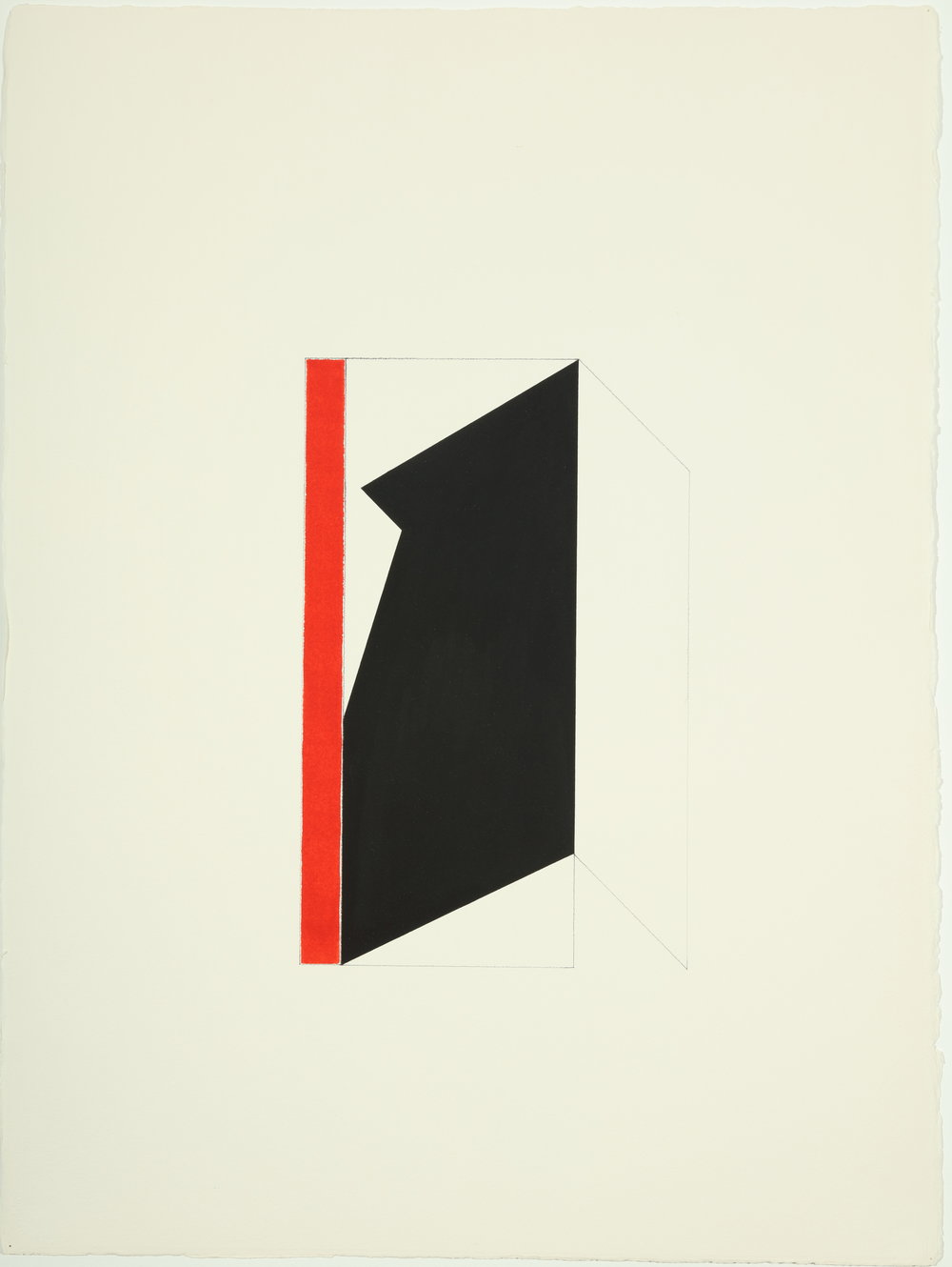 "Untitled   1977-1978  Acrylic and pencil on paper  30.50"" x 22.87"""