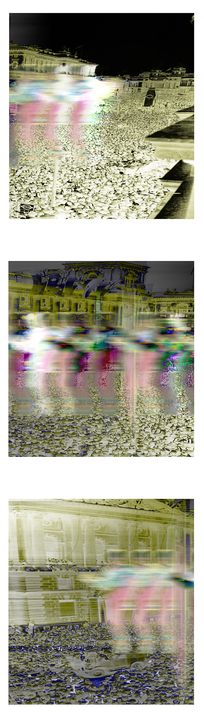 """World War II: Electric Boogaloo (Edition 1,2,3)   2016  Archival pigment print mounted to Dibond  42""""H x 12""""W inches"""
