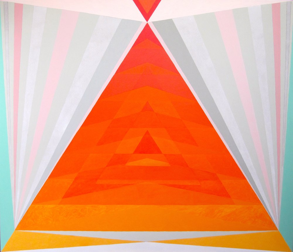 Inner Fire Altar   , 2016   Acrylic on canvas  56H x 66W inches