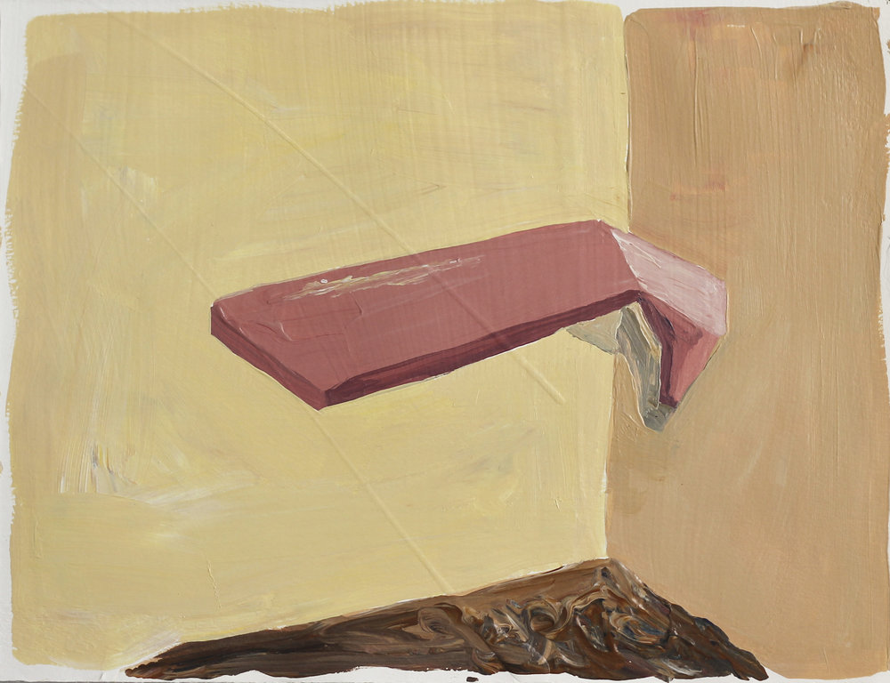 Comer , 2015 Acrylic on paper 7.5H x 10W inches