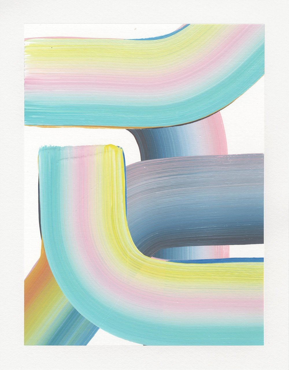 Acrylic Gradient Series,  2017  Acrylic on paper  14H x 11W inches