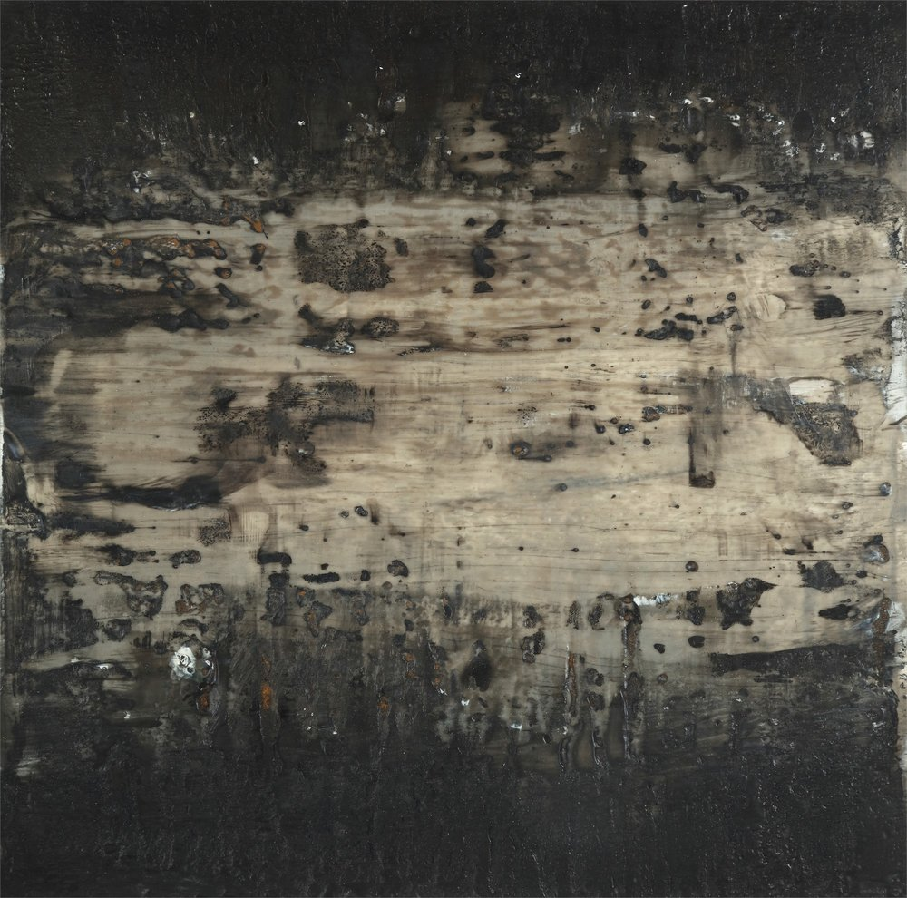 Dark Twin , 2016 Encaustic on panel 12H x 12W inches