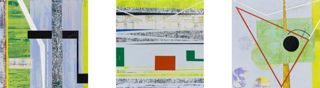 Shapeshifting (Triptych) ,2017  Acrylic on canvas  36H x 36W each