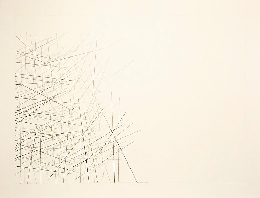 Coari, Brazil -4.0919, -63.0996,  2018  Graphite on paper  18H x 24W inches unframed  21.75H x 27.75W inches framed