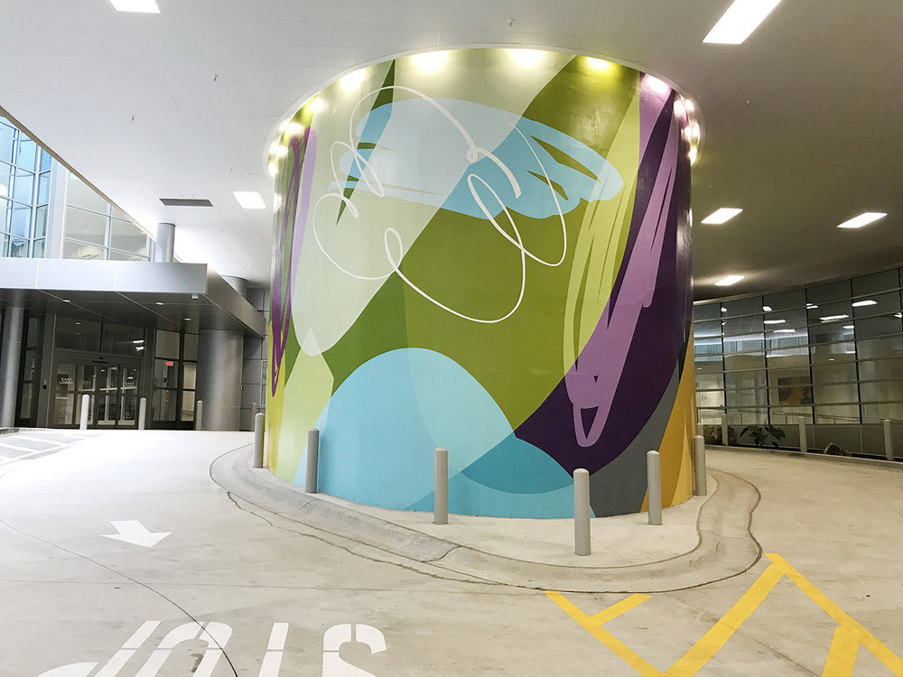 Northside Hospital Cancer Center , 2018  Atlanta, Georgia  Acrylic latex on concrete  2000 square feet