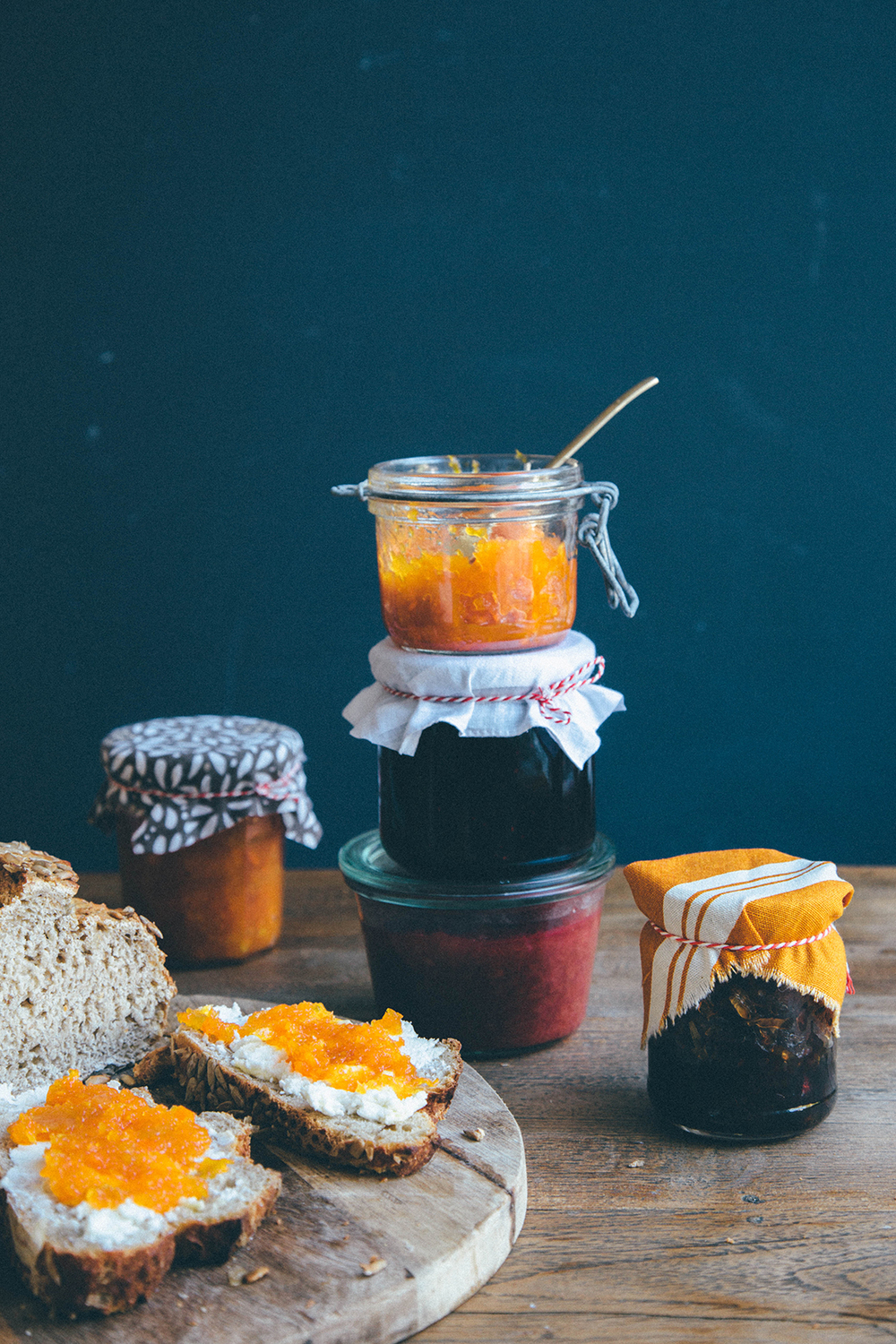 Cheese and jam - a perfect match.
