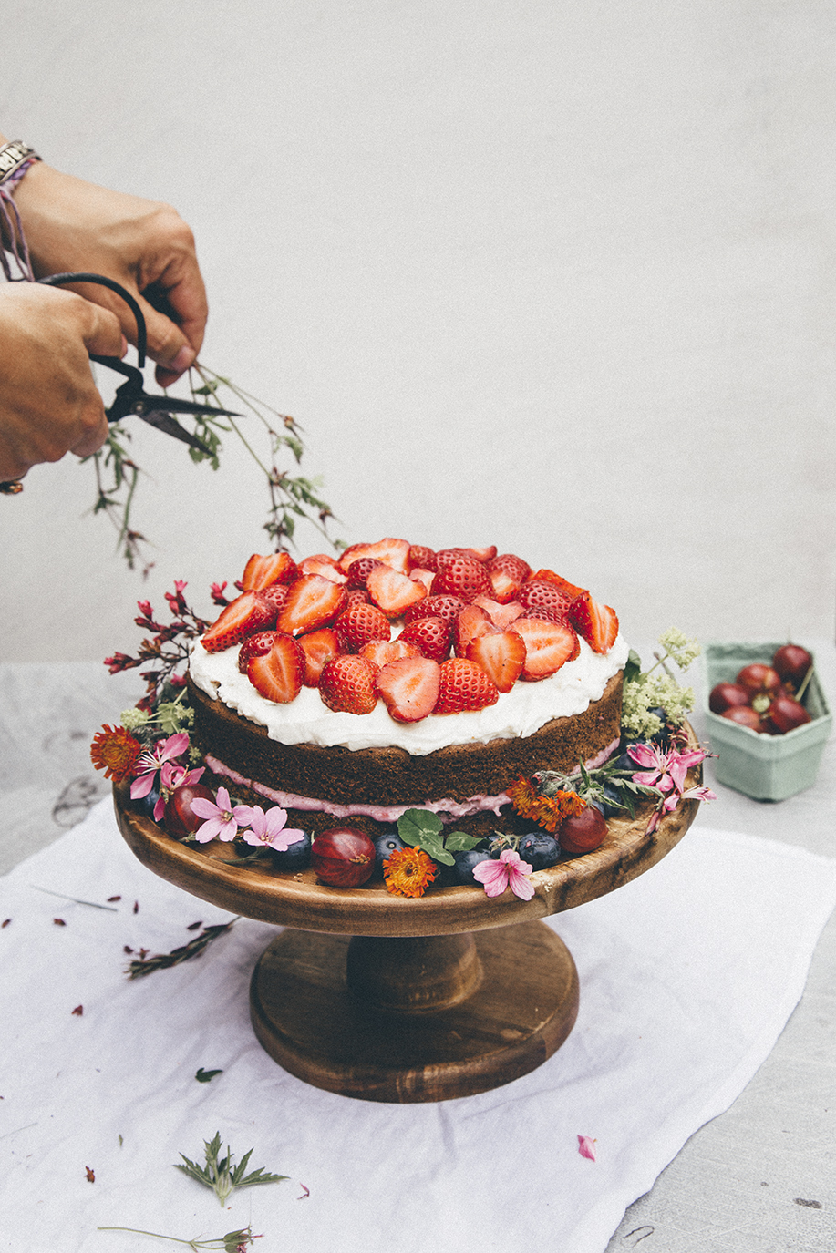 I revisited Swedish classics this year, adding my own twists. This strawberry Midsummer cake was a favorite!