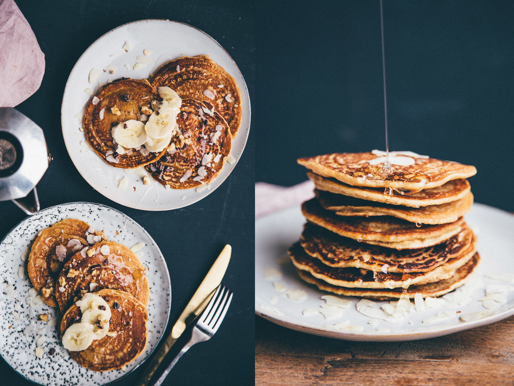 I made these perfect chickpea flour pancakes from Lindsey's new book.
