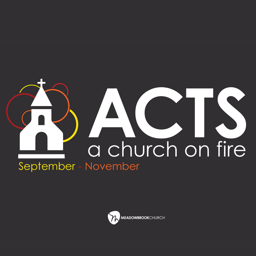 Sept 10 - Nov 26, 2017   The book of Acts tells the story of the birth of the church and the spread of the gospel. Two thousand years later, this story still has relevance because their story is our story. Their calling is our calling. Join us this year as we explore the book of Acts and learn what it means to be the church – the family of God.