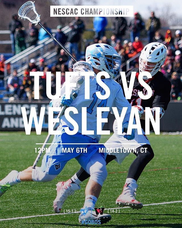 NESCAC Championship vs Wesleyan today! #GoBos . . . #gameday #nescac #championship #division3 #playoffs #leaguechampionship #ncaa #ncaalax #d3lax #tufts #jumbos #wesleyan #cardinals #roadwarriors #laxszn #lacrosse #stx #nike #theseason2018 #wintheday