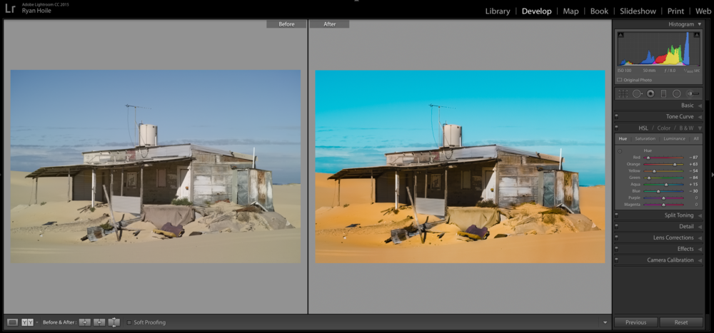 Before and after in Lightroom CC 2015.  Click to enlarge.