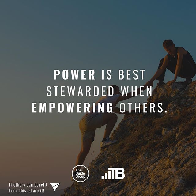 Power is not for the benefit of the one who holds to power.