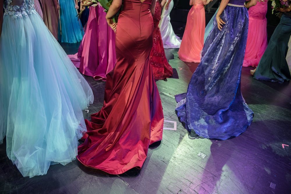 Contestants exit the stage at the 2017 Miss Nevada pageant at Tropicana Resort and Casino on Friday, June 16, 2017, in Las Vegas. Morgan Lieberman Las Vegas Review-Journal