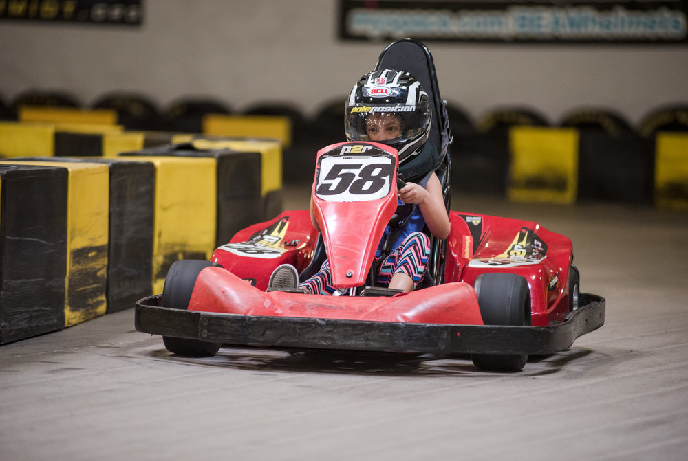 Zoe Kenner, 7, on the racetrack for the first time at Pole Position Raceway on Saturday, July 22, 2017, in Summerlin. Morgan Lieberman Las Vegas Review-Journal