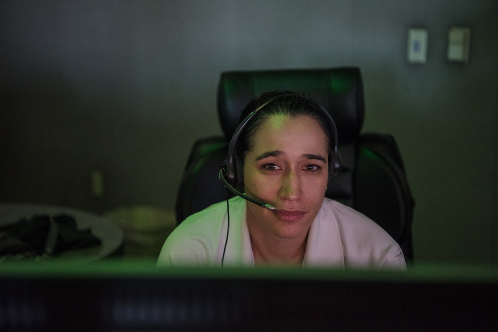 Guinevere Cisne working at the nurse dispatcher station at Las Vegas Fire and Rescue on Friday, Aug. 25, 2017, in Las Vegas. Morgan Lieberman Las Vegas Review-Journal