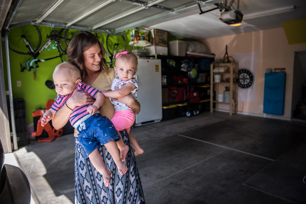 Megan Barborka with her twins, Henry and Lorea, in the Barborka home on Tuesday, Aug. 15, 2017, in Las Vegas. Morgan Lieberman Las Vegas Review-Journal