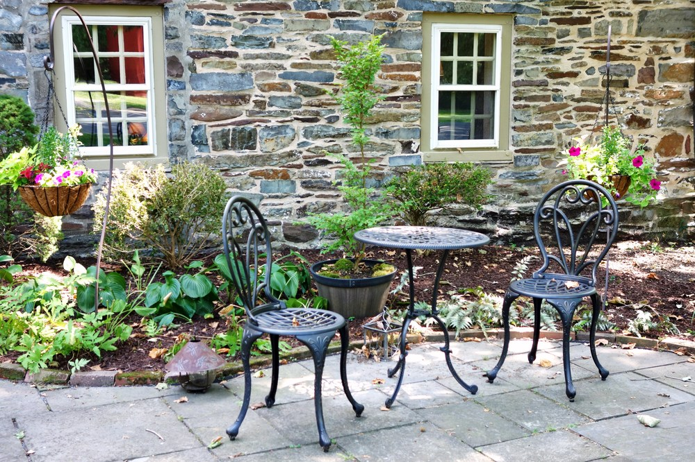 Lovely seating outside on Patio