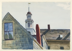 Edward Hopper, American, 1882–1967. Universalist Church, 1926. Watercolor over graphite on cream wove paper, 35.6 x 50.8 cm. Laura P. Hall Memorial Collection, bequest of Professor Clifton R. Hall (x1946-268)