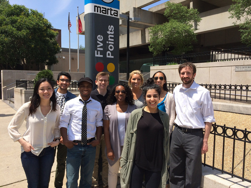 Our interns join CCI's Kyle Kessler on a tour of South Downtown.