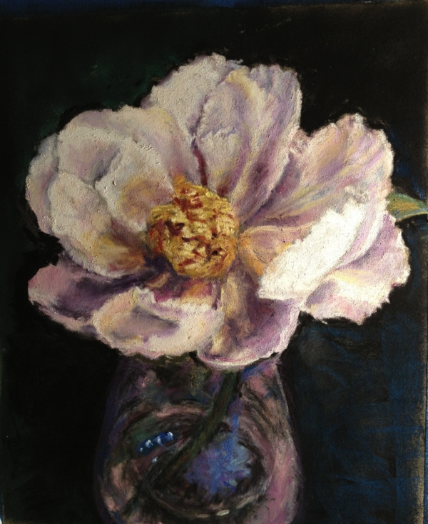 Pastel, Peony, Private Collection