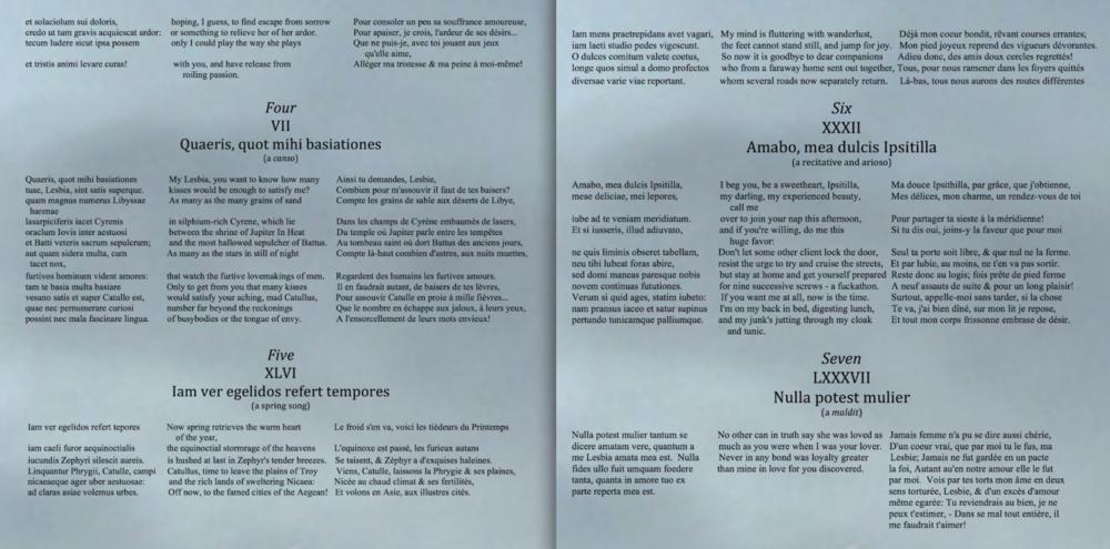 Carmina Catulli Booklet3