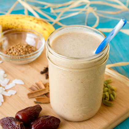 This smoothie even comes in a pretentious mason jar!