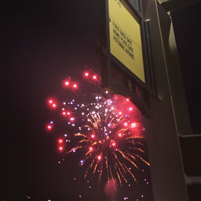 It was very thoughtful of the Nats to celebrate the #redsox victory with some fireworks!