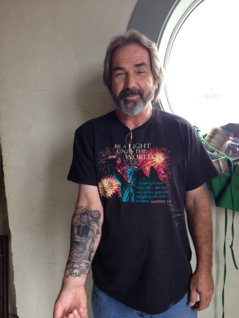 A nice tattoo of CALVARY.  This man drove to my studio to show it off.