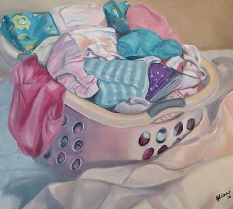 "My Latest Painting, ""Laundry Day"""