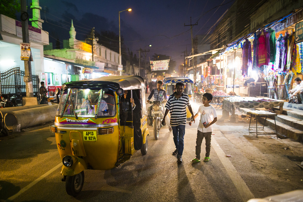 Rush Hour in Hyderabad, India