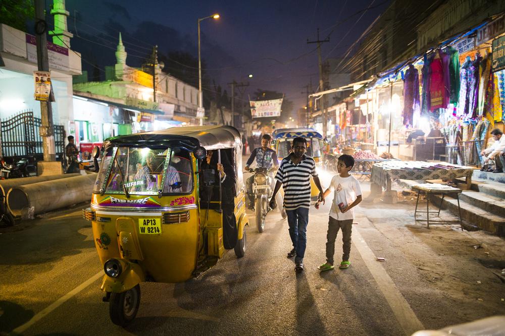 Rush Hour in Hyderabad, India