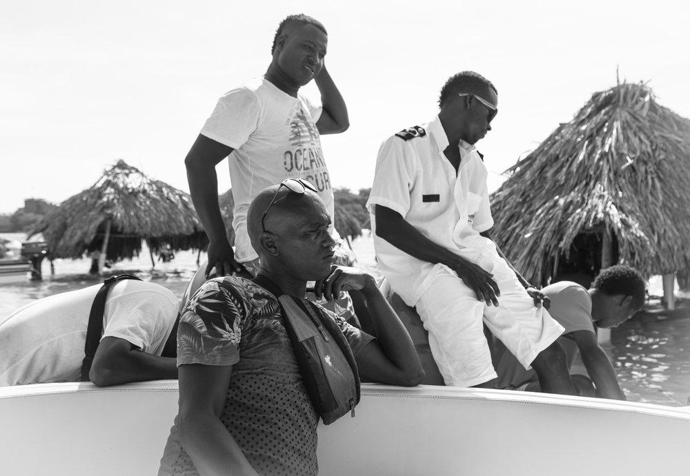 Colombian Negotiators off the coast of Cartagena