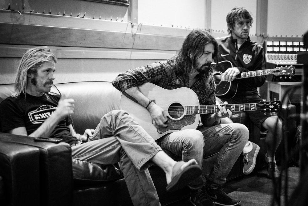 Taylor Hawkins, Dave Grohl & Chris Shiflett