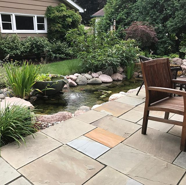 Dreaming of warmer days when we are building ponds, and watching our clients put their feet in the water and feed the fish! #escapeslandscapedesign #aquascapeinc #designbuildescape #whatsinyouryard