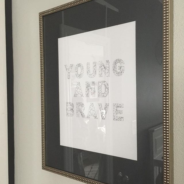 Our young and brave print is now available as a digital download in the @Etsy shop! 👶🏼👏🏼👍🏼 get one for your little!